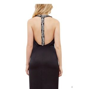 Ted Baker Low Back Embellished Maxi Dress sz 8